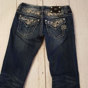 Miss Me womans easy boot cut jeans size 27